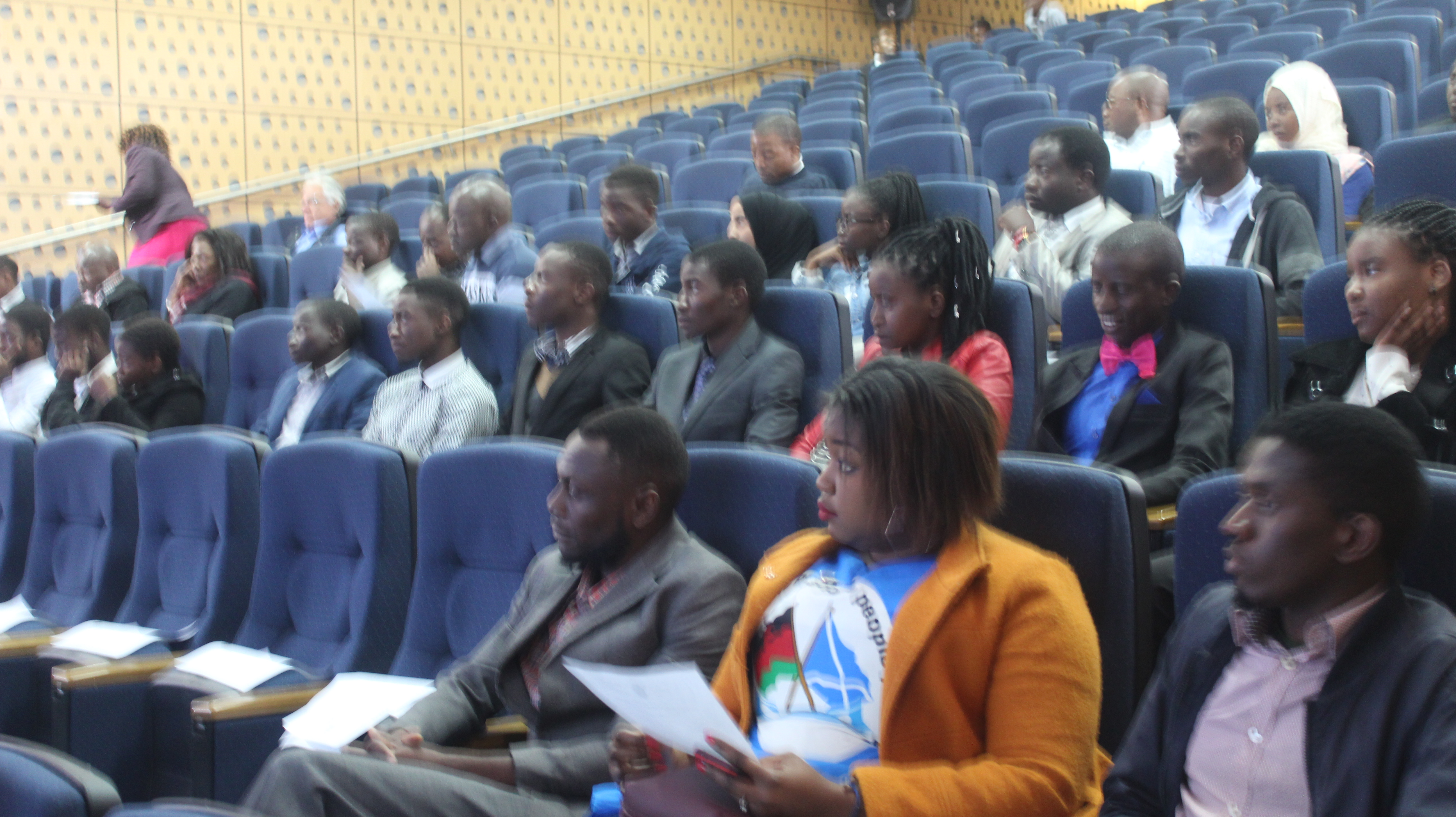 a section of the students in attendance at the launch
