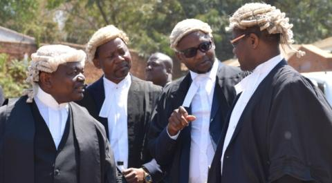 Malawi Electoral Commission lawyers at Court