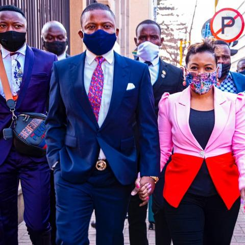 Bushiri and wife Mary leaving court